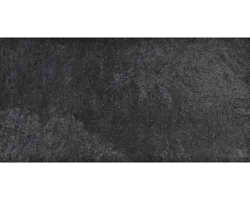 Carrelage de sol en faïence-cérame fin Gran Sasso Nero Nero 30x60 cm