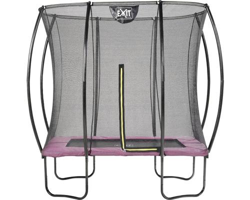 Trampoline EXIT Silhouette avec filet de sécurité 254 x 153 cm rose
