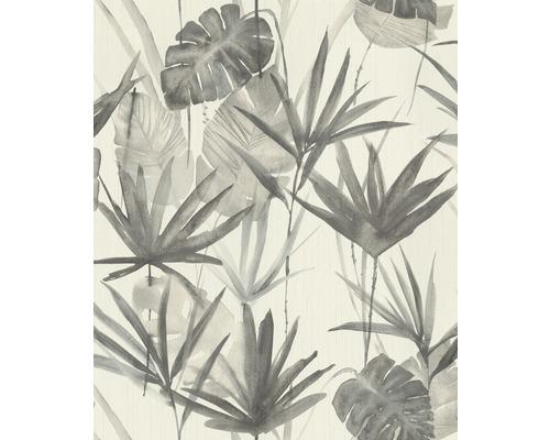 Papier peint intissé 536416 Barbara Schöneberger II feuilles blanc gris