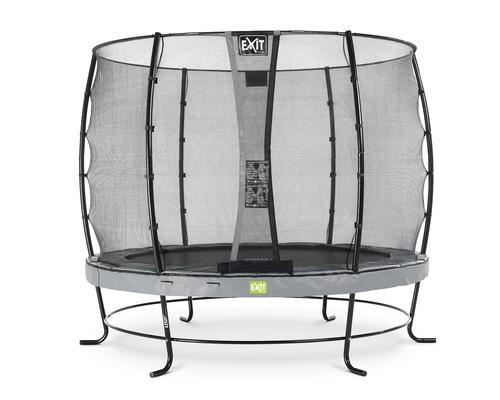 Trampoline EXIT Elegant avec filet de sécurité Economy Ø 253 cm H 180 cm gris