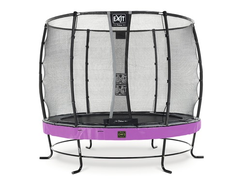 Trampoline EXIT Elegant Premium avec filet de sécurité Deluxe Ø 253 cm H 180 cm rose