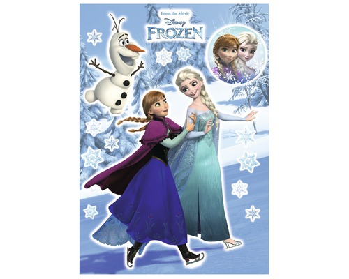 Sticker mural Anna & Elsa 50x70cm