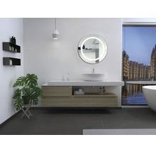 LED Badspiegel Silver Sun mit Alurahmen Ø 59 cm IP 24 (spritzwassergeschützt)-thumb-3
