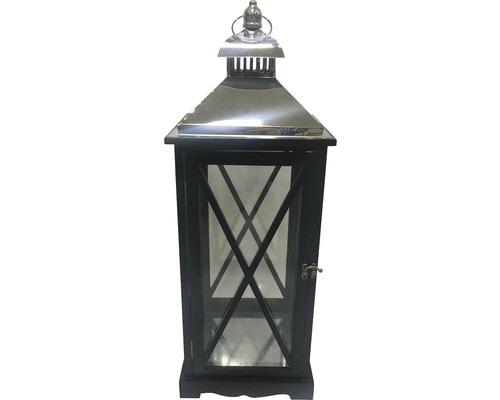 Lanterne Lafiora 24x24x65cm en bois noir