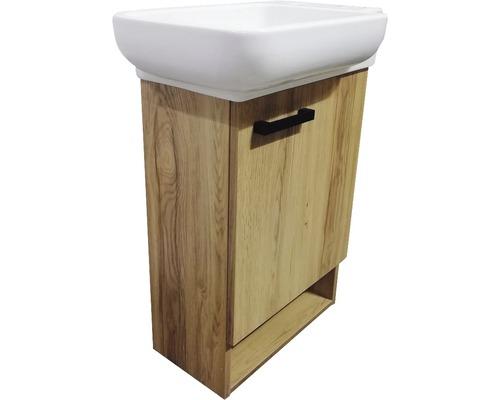 Ensemble de meubles pour deuxième salle de bains basano Venas 54cm avec lavabo en céramique Legnano effet bois