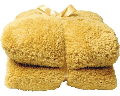 Decke Teddy gelb 150x200 cm