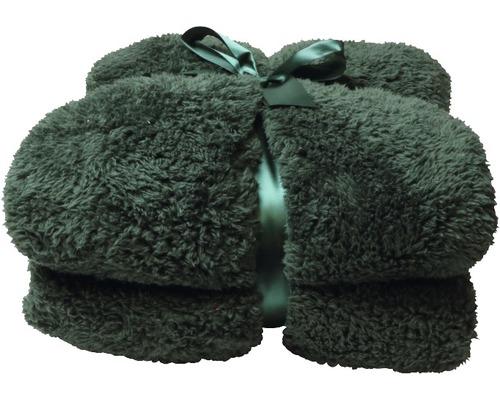 Decke Teddy dunkelgrün 150x200 cm