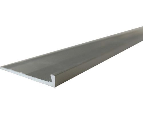 Barre profilée de finition Slate-Lite F-Line argent 2,5 m