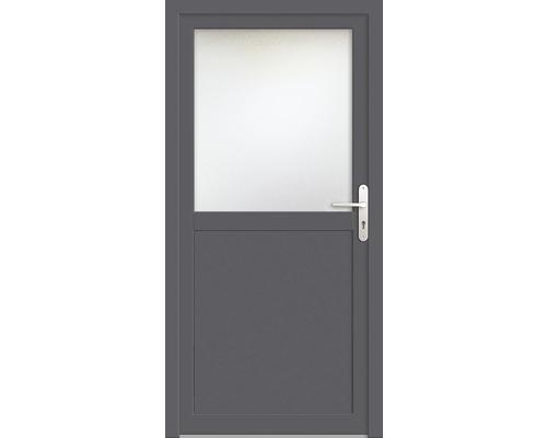 Porte d''entrée secondaire plastique ProM02 98x200 cm blanc/titane tirant droit RC2