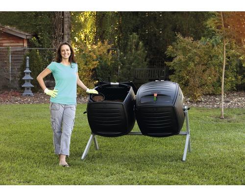 Double silo de compostage 380 litres avec châssis en acier