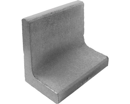 Pierre en L pierre d''angle gris 50 x 50 x 7 cm