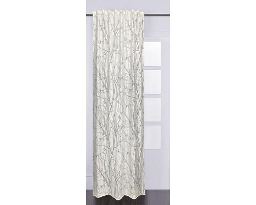 Rideau à œillets Flora blanc 140x240 cm