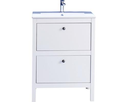 Vasque avec meuble sous-vasque Ole blanc h82 cm x l61 cm x p46 cm