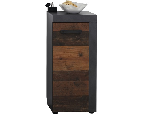 Meuble bas Indy 36cm Old wood/anthracite
