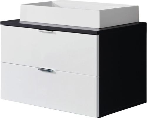 Ensemble de meubles de salle de bains Concept One 60 cm blanc haute brillance / graphite