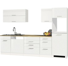 Cuisine complète non équipée Held Möbel Mailand blanc à haute brillance 300 cm sans appareils électriques 609.1.6210-thumb-0