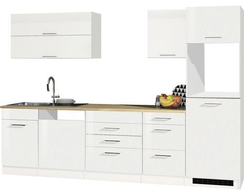 Cuisine complète non équipée Held Möbel Mailand blanc à haute brillance 300 cm sans appareils électriques 609.1.6210-0