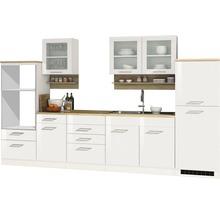 Cuisine complète non équipée Held Möbel Mailand blanc à haute brillance 330 cm sans appareils électriques-thumb-0