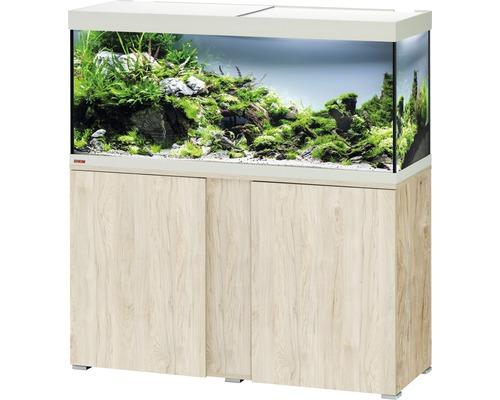 Kit complet d''aquarium EHEIM Vivaline 240 LED avec éclairage à LED, chauffage, filtre et meuble bas pin