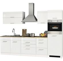 Cuisine complète Held Möbel Mailand blanc haute brillance 290 cm avec électroménager 607.1.6210-thumb-4