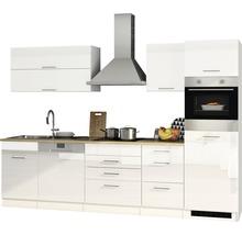 Cuisine complète Held Möbel Mailand blanc haute brillance 300 cm avec électroménager 611.1.6210-thumb-4