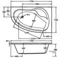 Whirlpool Exklusiv Poel Mod. A 150x110 cm weiß