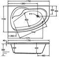 Whirlpool Exklusiv Poel Mod. B 175x110 cm weiß