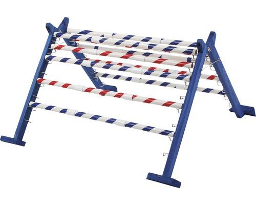 Haie de saut agility combinée avec dix bâtons en plastique