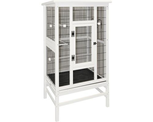 Vogelvoliere 82 x 67 x 151 cm weiß