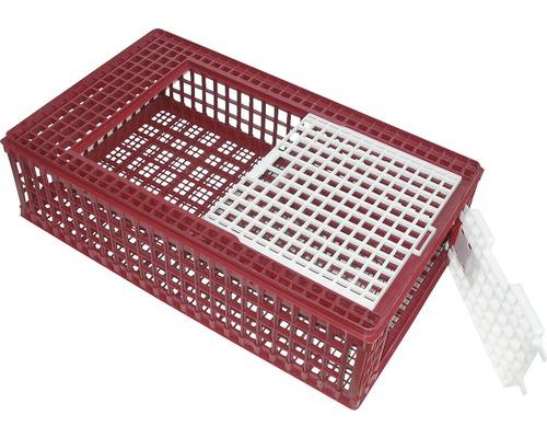 Boîte de transport pour volaille 95x57x24cm rouge