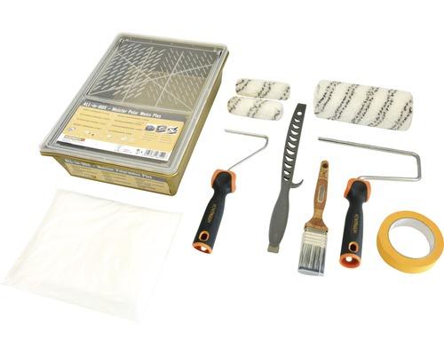 Kit de rouleaux à peinture boîte tout-en-un MPW Plus 10pces