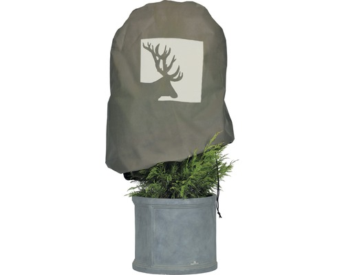 Housse intissée de protection hivernale Videx «bois de cerf» ® H110xl110 cappuccino/beige