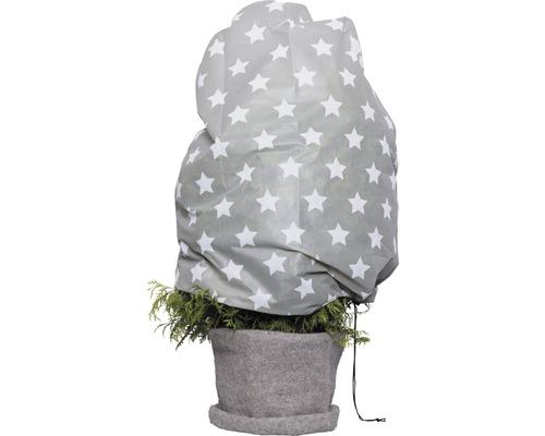 Housse intissée de protection hivernale Videx ''étoiles'' ® H110xl110 gris/blanc