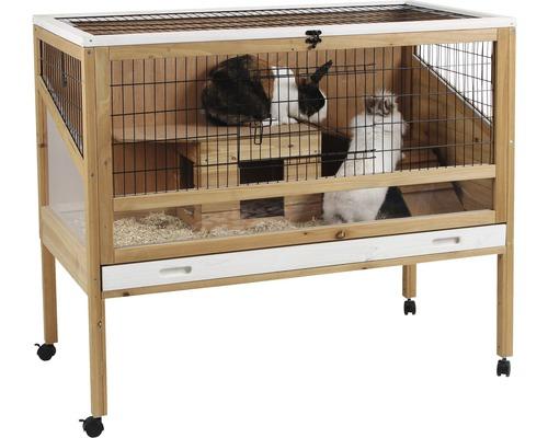 Cage pour petits animaux Indoor Deluxe avec maison en bois 115 x 60 x 92,5 cm