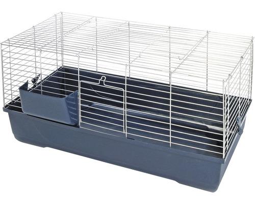 Cage pour rongeurs Gabbia Baldo avec rack à foin 100x53x46cm bleu