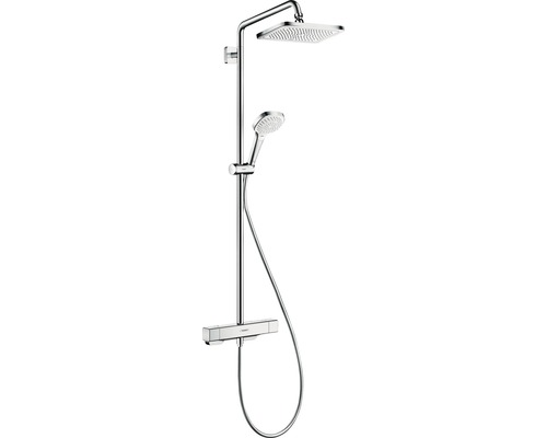 Duschsystem hansgrohe Croma E Showerpipe 280 1jet 27630000 chrom mit Thermostat