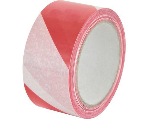 PVC Warnband Klebeband weiß rot 66 m x 50 mm