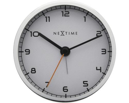 Horloge murale Company avec alarme blanc/ métal Ø 9 cm