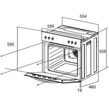 Ensemble cuisinière PKM BIC3 I-GK IX 4 volume utile 60l avec plaque de cuisson vitrocéramique-thumb-3