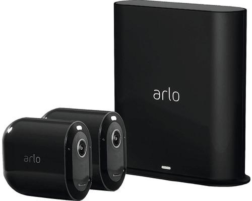 Caméras de surveillance arlo Pro3 Smart Home noir sans fil 2K-HDR et système d''alarme pour l''intérieur 2 pièces