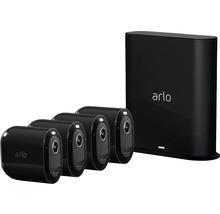 Caméras de surveillance et système d''alarme arlo Pro3 Smart Home noir sans fil 2K-HDR pour l''intérieur 4 pièces-thumb-0