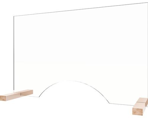 Hygiaphone de comptoir 650 x 900 x 410 mm en verre de sécurité