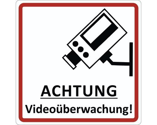 Panneau d''avertissement «vidéosurveillance» Ø 95 mm
