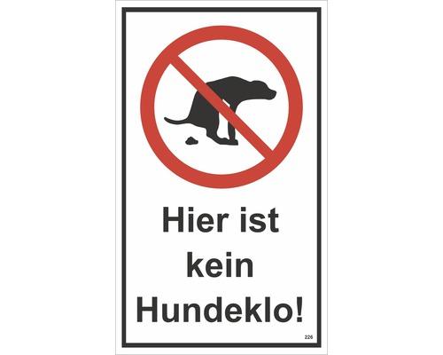 Panneau d''interdiction «Ceci n''est pas un canisite» 250x250 mm