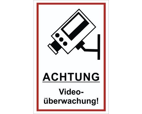 Panneau d''avis «vidéosurveillance» 300x200 mm