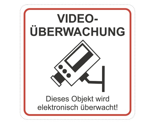 Panneau d''avis «vidéosurveillance» 65x65 mm