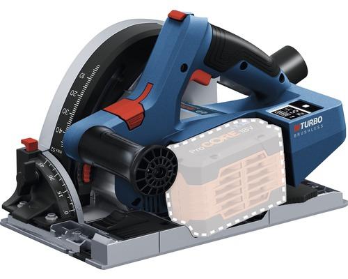 Scie circulaire plongeante sans fil Bosch Connectivity BITURBO GKT 18V-52 GC, sans batterie ni chargeur, avec L-BOXX
