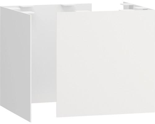 Set de pieds en métal Space 22 cm blanc mat