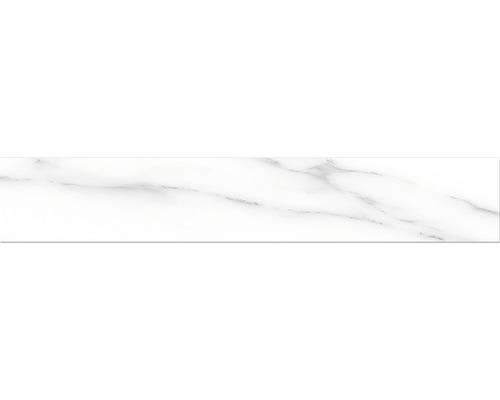 Socle Macael white poli gris 10x60 cm