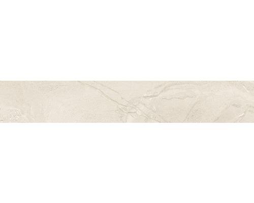 Plinthe Sicilia Avorio beige poli 10x60 cm